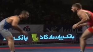 پیروزی باتسایف برابر محمدی و قهرمانی بیمه رازی بابل در لیگ برتر کشتی آزاد