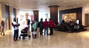 ایرانیان مقیم ژاپن در هتل محل اقامت پرسپولیس