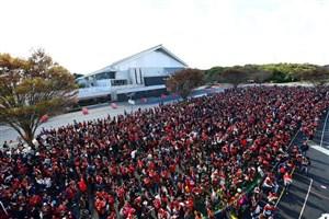 ازدحام در مقابل ورزشگاه کاشیما ساکر (گزارش تصویری)