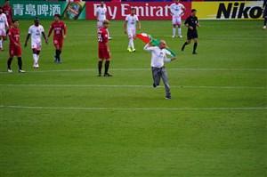 ورود جیمی جامپ ایرانی در بازی کاشیما-پرسپولیس