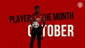 آنتونی مارسیال بهترین بازیکن ماه منچستریونایتد