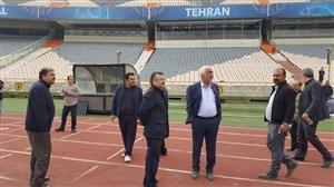 تمرینات مسئولان آزادی برای جشن قهرمانی آسیا