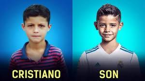 مقایسه کودکی ستاره های فوتبال باچهره فرزندشان