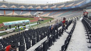آمادگی استادیوم بزرگ تهران برای شروع رقابتهای لیگ