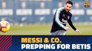 تمرین امروز بارسلونا همراه با گلزنی مسی (17-08-97)