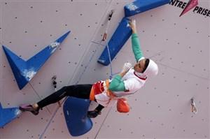 رقابتهای سنگنوردی قهرمانی آسیا صعود الناز رکابی و حذف رضا علیپور