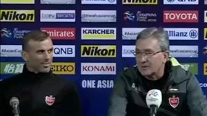 کنفراس خبری برانکو و سیدجلال حسینی پیش از تقابل با کاشیما