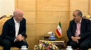 ورود اینفانتینو رییس فیفا به تهران
