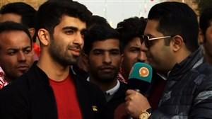 گفتگو با شاهین ایزدیار در ورزشگاه آزادی