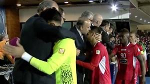 اهدای مدال نقره لیگ قهرمانان آسیا به تیم پرسپولیس
