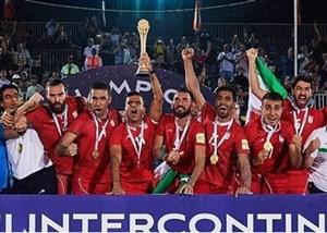 تیم ملی فوتبال ساحلی به تهران بازگشت