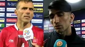 صحبت های سیدجلال حسینی و بیرانوند بعد از بازی