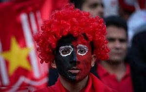 استقبال هواداران از پرسپولیس در استادیوم وطنی