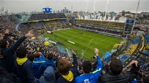 رونمایی از جام قهرمانی لیبرتادورس در جو فوق العاده ورزشگاه بوکاجونیورز