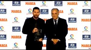 اهدای جایزه بهترین بازیکن فصل 18-2017 لالیگا به لیونل مسی