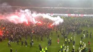 هجوم هواداران آیک سوئد پس از قهرمانی در لیگ