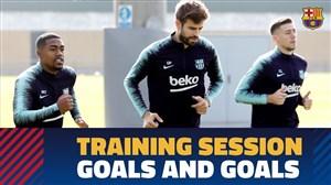 تمرین امروز تیم بارسلونا (22-08-97)