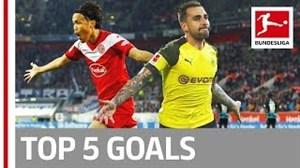 5 گل برتر هفته یازدهم بوندسلیگا 2019-2018