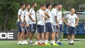 تمرین امروز تیم ملی آرژانتین (23-08-97)