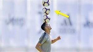 تکنیک ها و حرکت نمایشی بازیکنان در تمرین