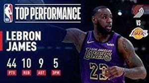 لبران جیمز بهترین بازیکن دیدارهای شب گذشته NBA