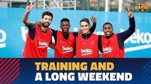 تمرین امروز تیم بارسلونا (24-08-97)