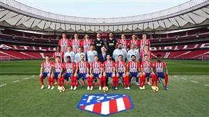پشت صحنه عکس تیمی اتلتیکومادرید در سال 2018