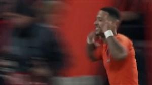 گل دوم هلند به فرانسه (پنالتی دیپای )