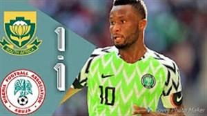 خلاصه بازی آفریقای جنوبی 1 - نیجریه 1