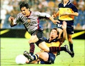 بازی خاطره انگیز بوکاجونیورز - بارسلونا درسال1999