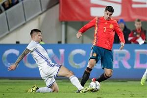 پیروزی خفیف اسپانیا مقابل بوسنی