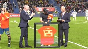 تقدیر از داوید سیلوا به بهانه 125 بازی ملی برای ماتادورها