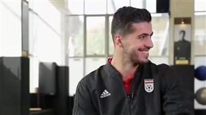 گفتگوی صمیمانه با بازیکنان تیم ملی ایران