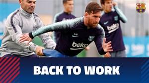 تمرین امروز تیم بارسلونا (30-08-97)