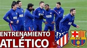 تمرین امروز تیم اتلتیکو مادرید برای تقابل با بارسلونا (30-08-97)
