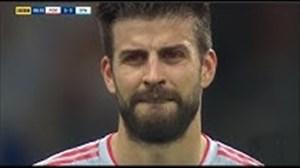 اشک ریختن بازیکنان بزرگ با گل های رونالدو