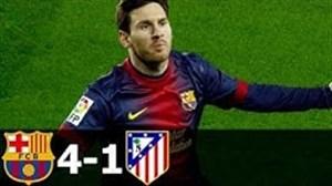 بازی خاطره انگیز بارسلونا 4 - اتلتیکو 1 در فصل 10-2009