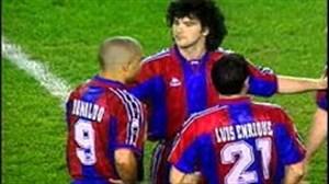 بازی نوستالژی بارسلونا 5 - اتلتیکو مادرید 4 در سال 1996