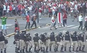 درگیری شدید نیروهای امنیتی با هواداران ریور پلاته