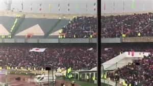 برافراشته شدن پرچم ژاپن در ورزشگاه آزادی
