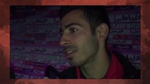 گفتگو با احسان پهلوان بعد از بازی مقابل پرسپولیس تهران