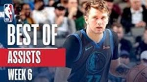 برترین پاس گل های هفته ششم بسکتبال NBA