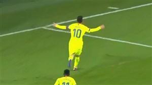 گل اول بارسلونا به آیندهوون  ( لیونل مسی )