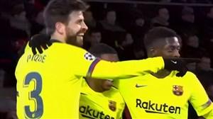 گل دوم بارسلونا به آیندهوون ( جرارد پیکه )