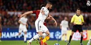 عملکرد کریم بنزما در برابر آاس رم در لیگ قهرمانان اروپا