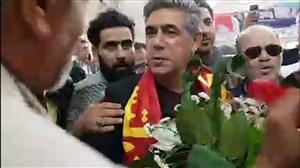 استقبال پرشور هواداران فولاد خوزستان از افشین قطبی