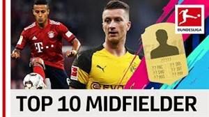 10 هافبک برتر بوندسلیگا از نگاه بازی فیفا 19