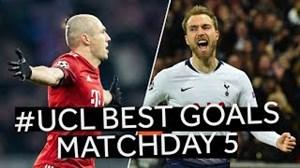 برترین گلهای هفته پنجم UCL در فصل 19-2018