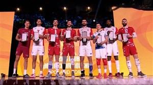 اهدای جوایز فردی برترین بازیکنان(والیبال باشگاهی قهرمانی جهان)