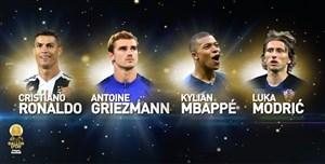 چهار نامزد نهایی جایزه توپ طلا 2018